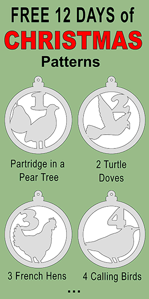 12 Days Of Christmas Ornament Patterns