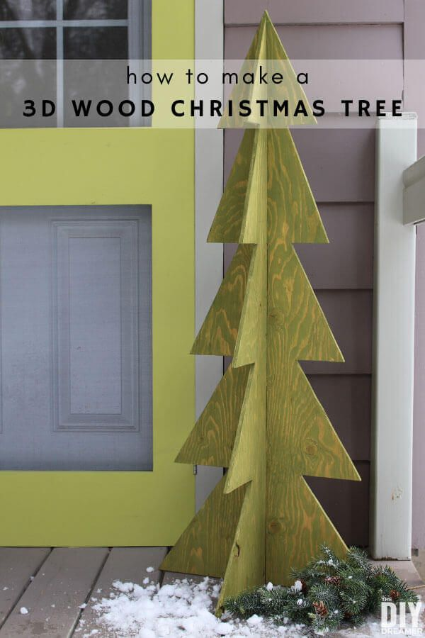 3D Wood Christmas Tree