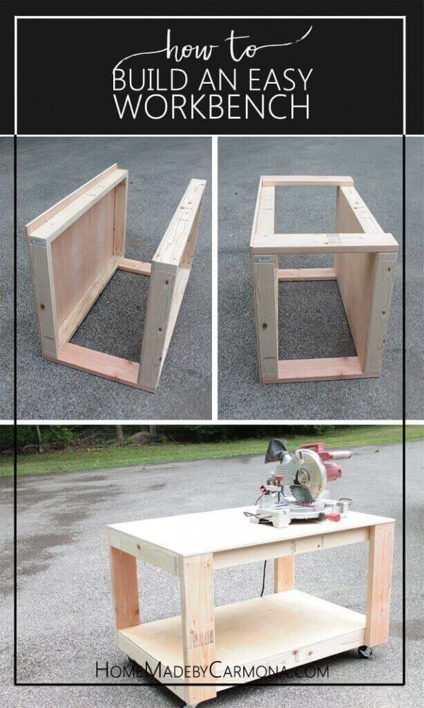 Build A Workbench With Wheels