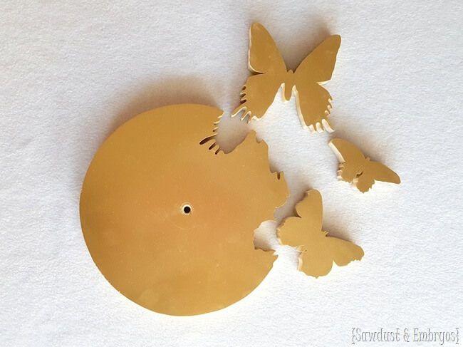 Butterfly Silhouette Clock