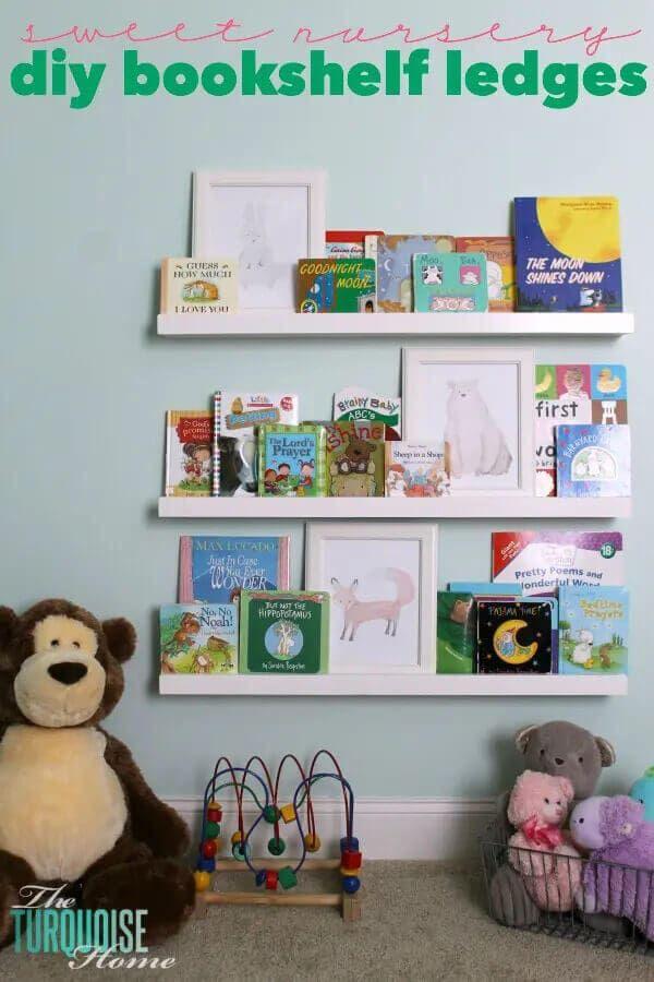DIY Bookshelf Ledges for the Nursery