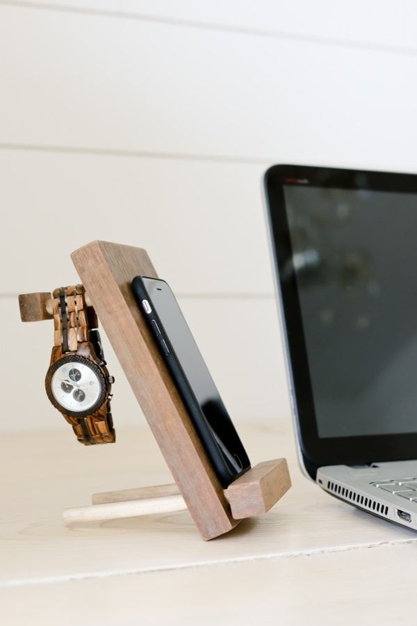 DIY Cell Phone Stand And Accessory Holder