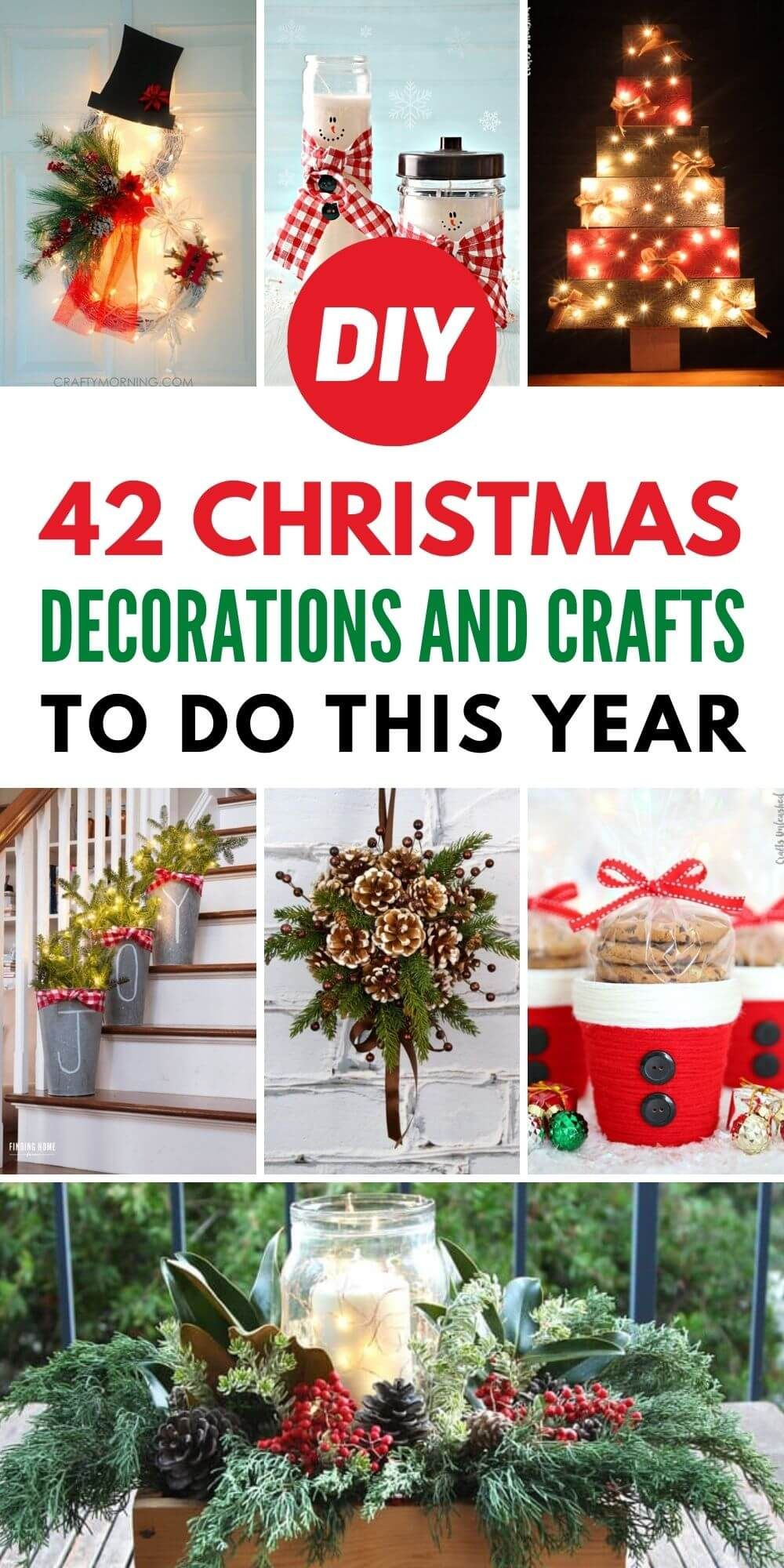 42 DIY Christmas Decorations and Crafts To Do This Year