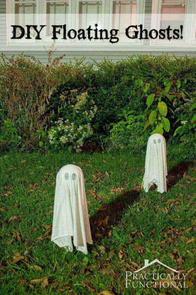 DIY Floating Ghosts