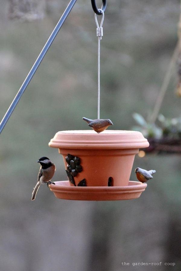 DIY Flower Pot Bird-Feeder