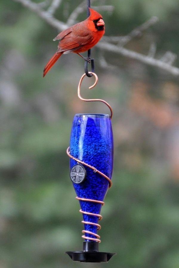 DIY Glass Bottle Bird Feeders