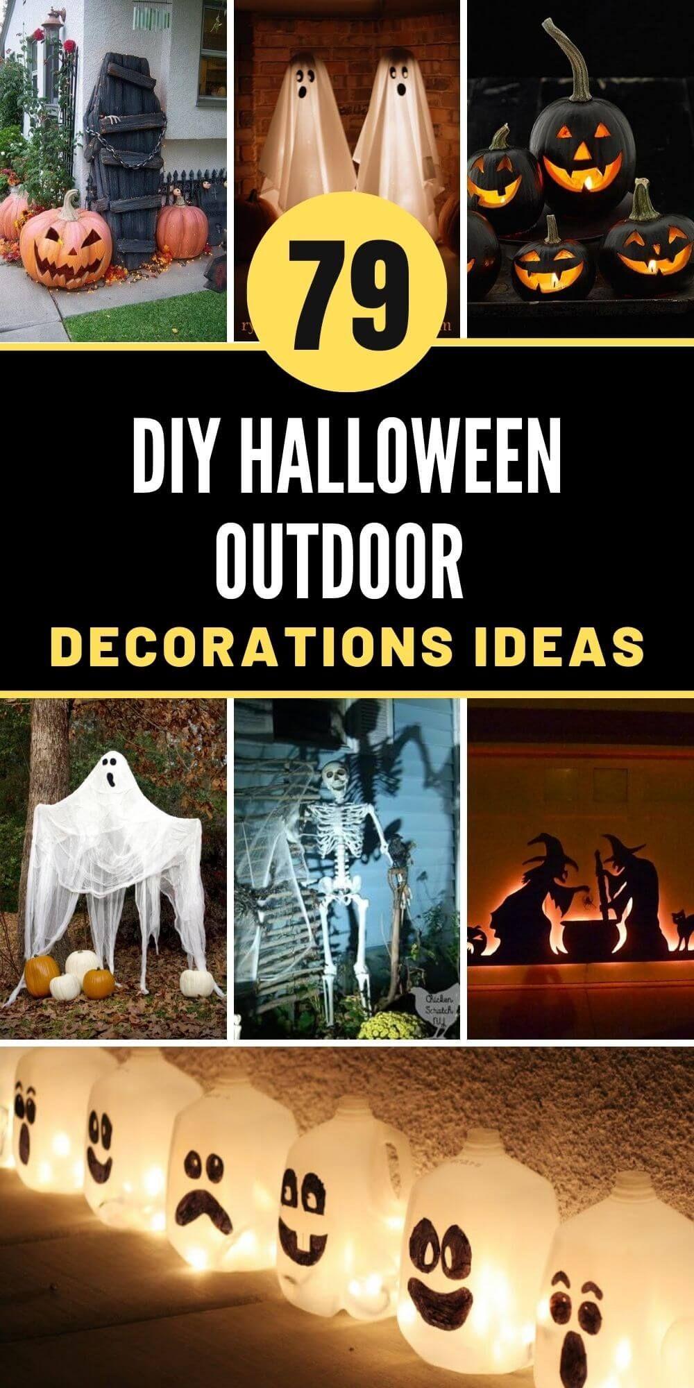 79 Best DIY Halloween Outdoor Decorations Ideas