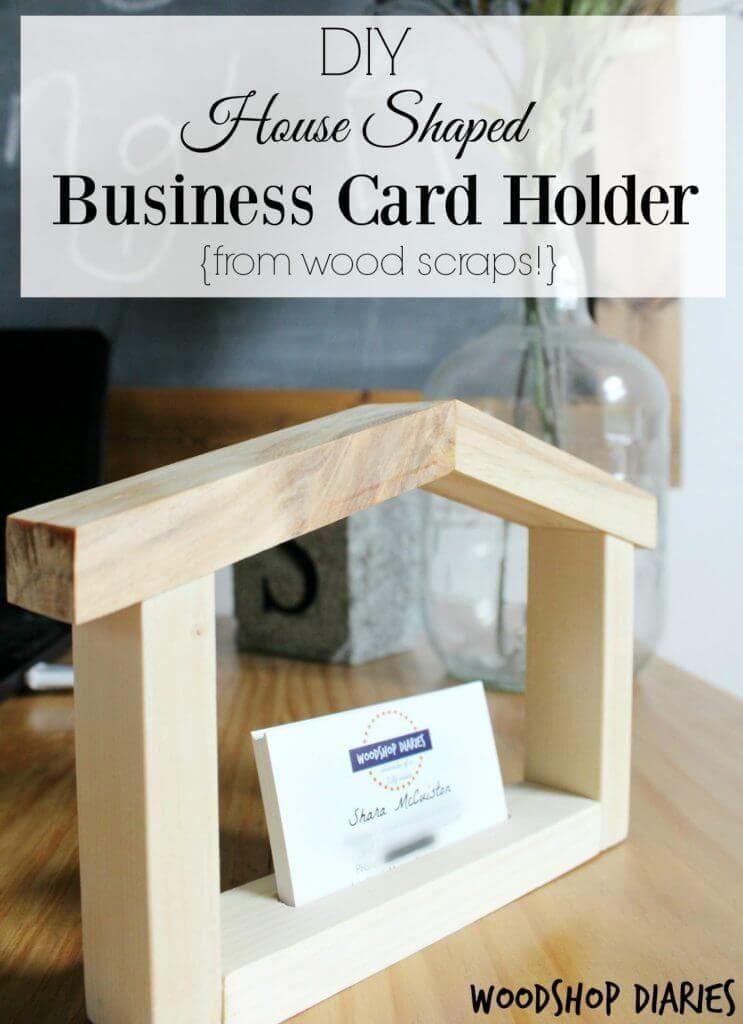 DIY House Shaped Business Card Holder