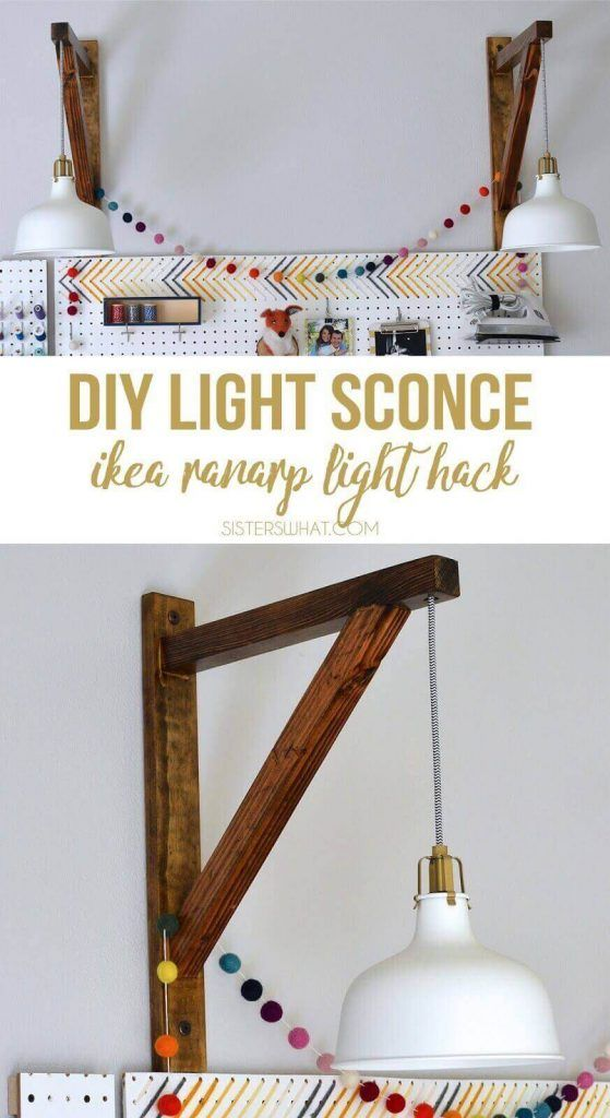 DIY Light Sconce Corbel