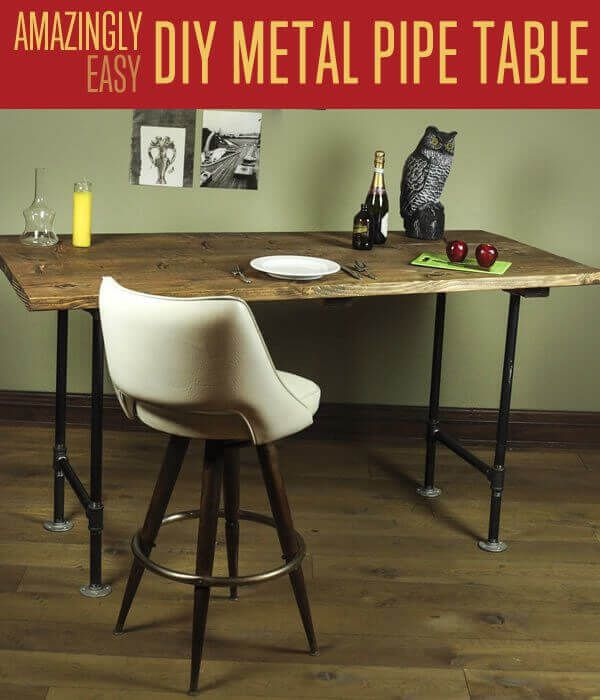 DIY Metal Pipe Table