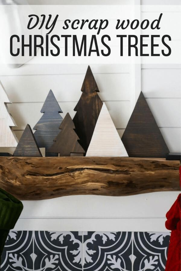 DIY Scrap Wood Christmas Trees
