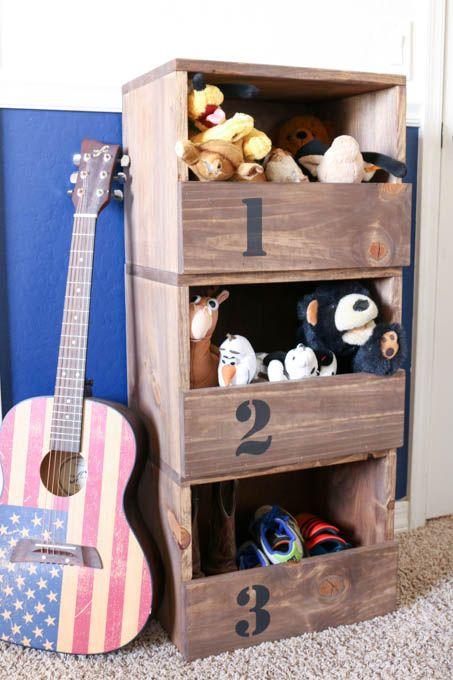 DIY Stacking Storage Cubbies