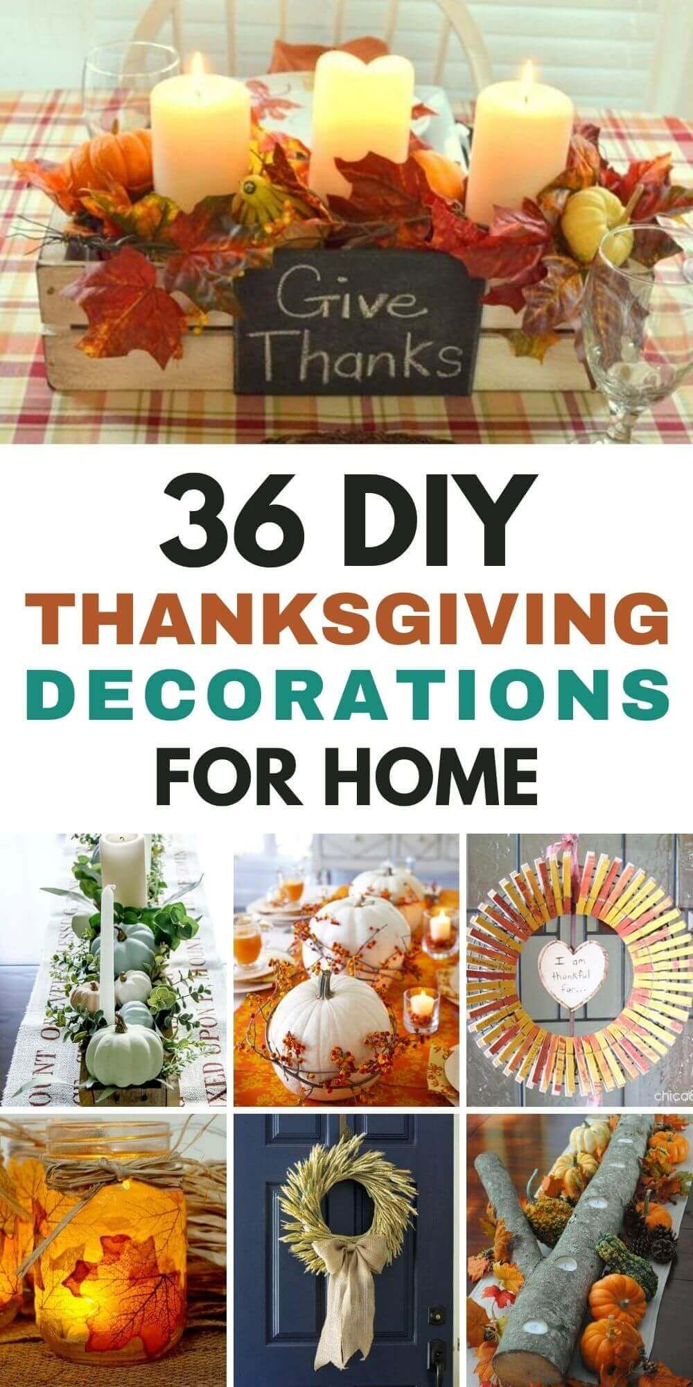 36 DIY Thanksgiving Decorations For Home