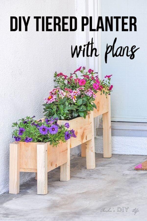 DIY Tiered Planter Box Plans