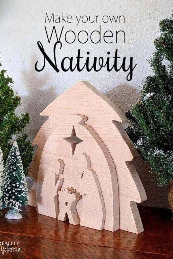 DIY Wooden Nativity Scene