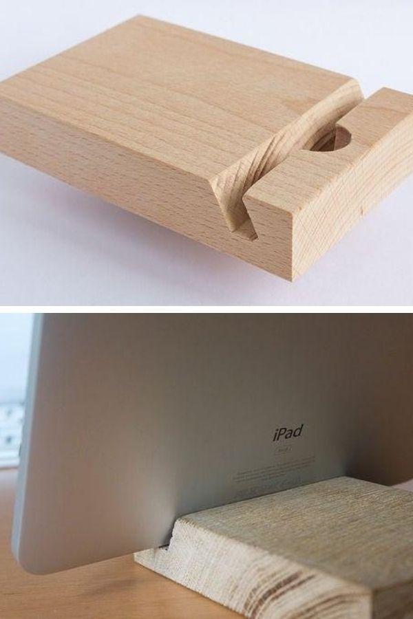DIY Wooden iPad Dock