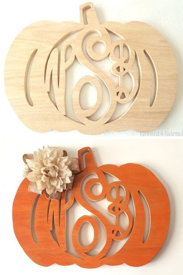 Diy Fall Themed Monogram Wreaths