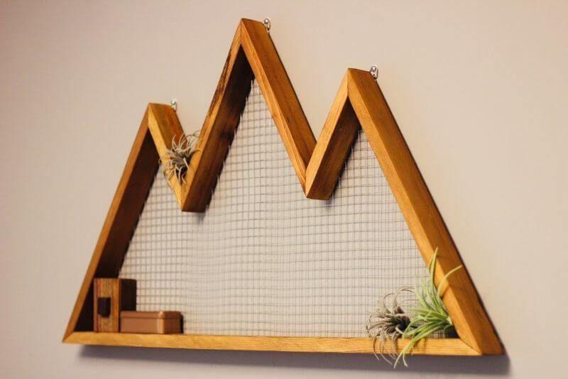 Wooden Wall Mountain Art