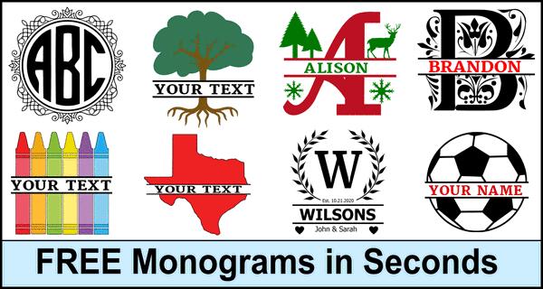 Fancy Split Font Monogram Letters