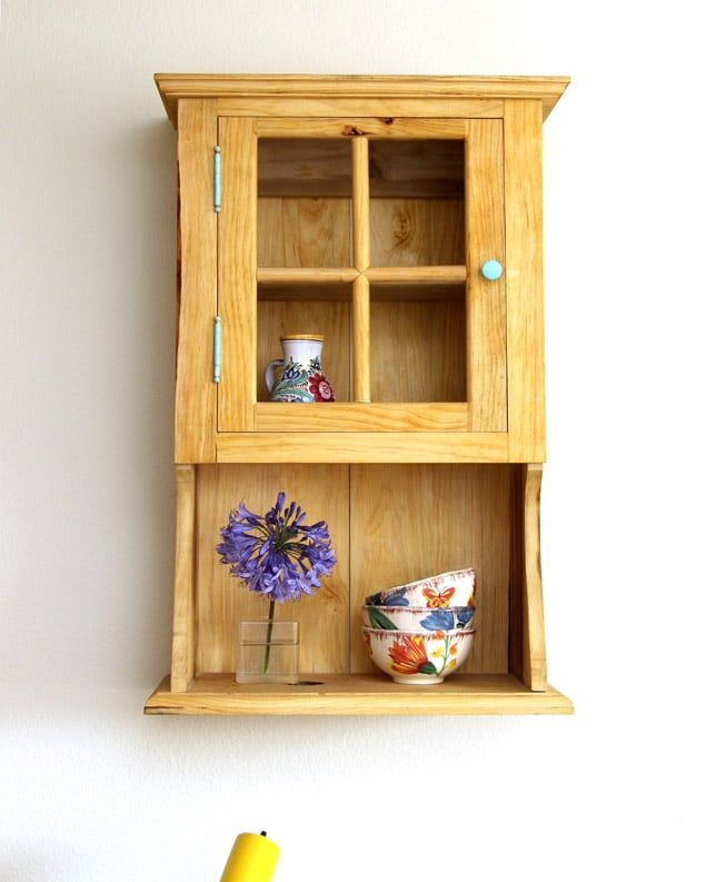 Farmhouse DIY Wall Cabinet With Free Building Plan