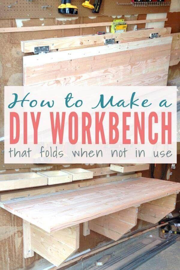 Foldable Workbench With Storage