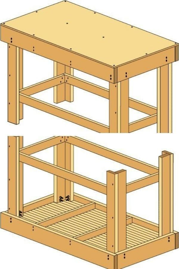 Free DIY Plain Workbench