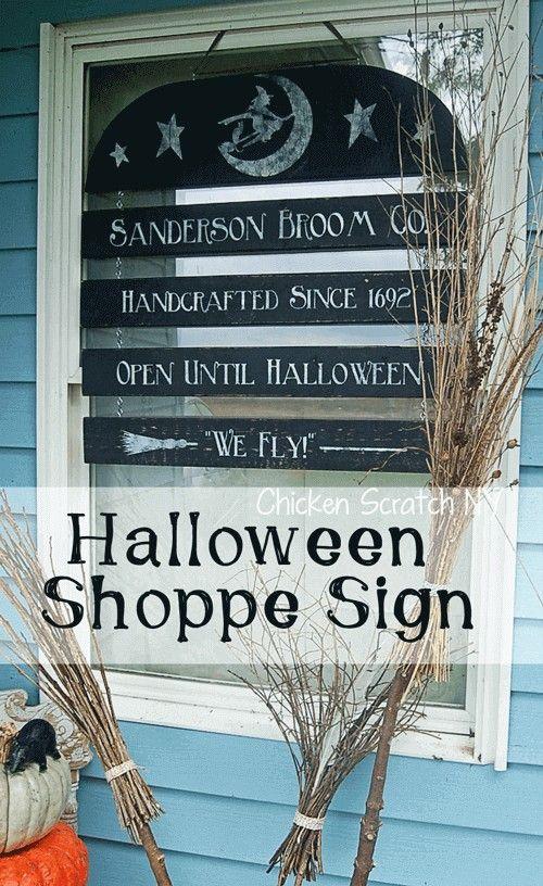 Halloween Window Sign