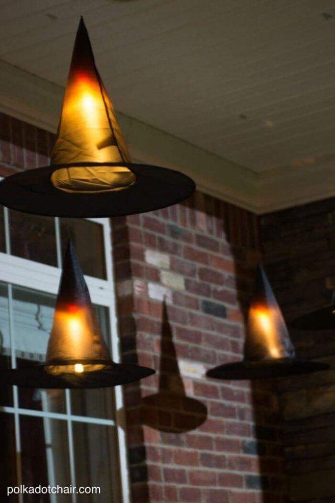 Hanging Witch Hat Luminaries