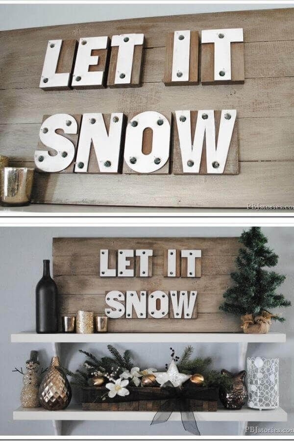 Let It Snow Marquee Sign