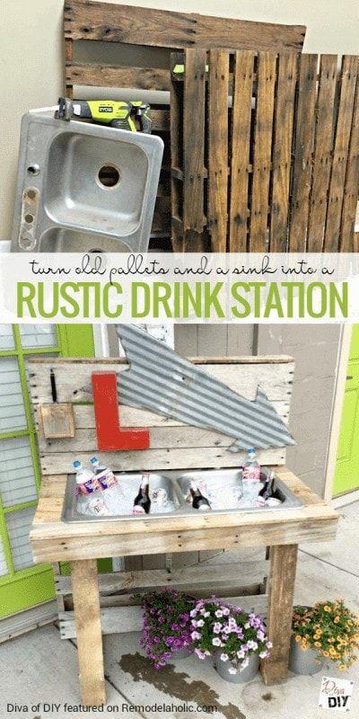 Pallet Drink Station