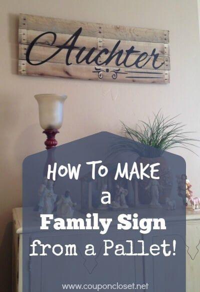 Pallet Family Name Sign