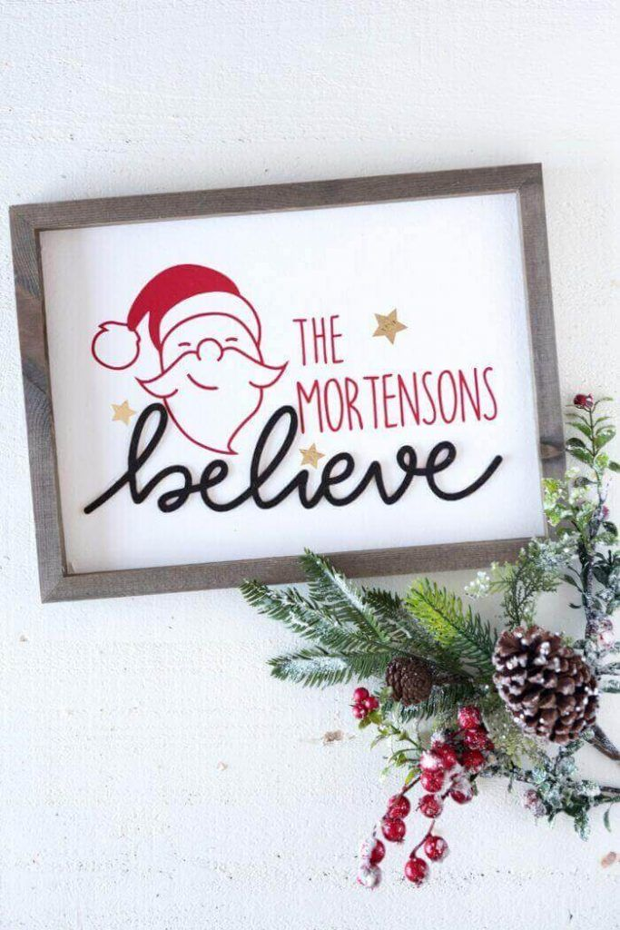 Personalized Wood Christmas Sign