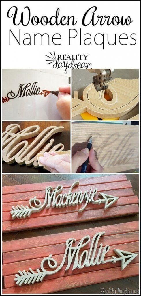 Personalized Wooden Arrow Name Plaques