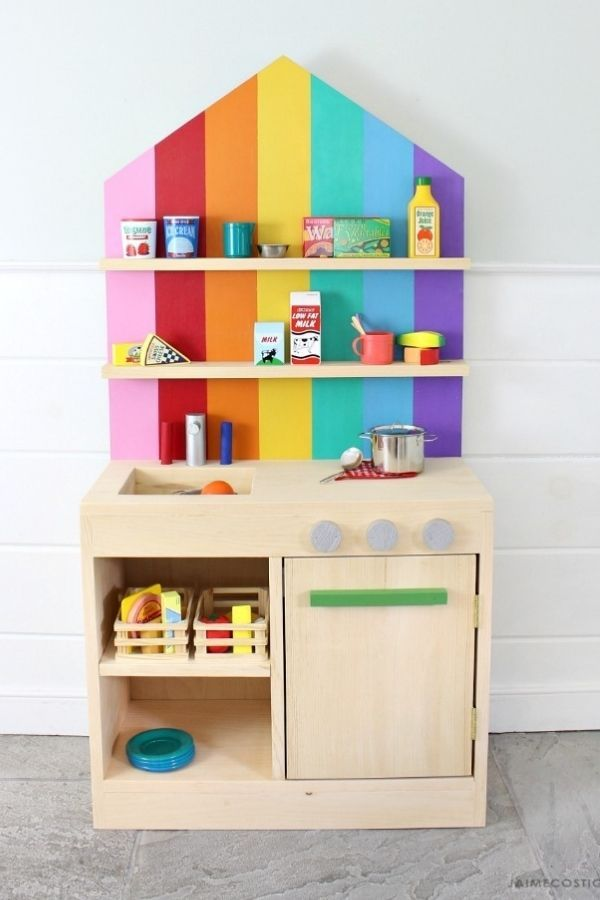 Play Kitchen With Back Wall