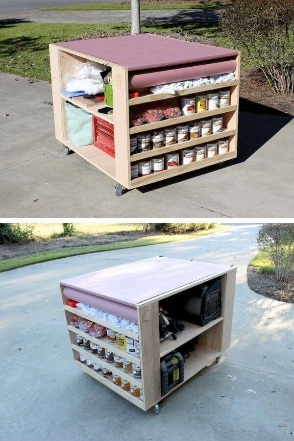 Portable Workbench With Lots Of Storage