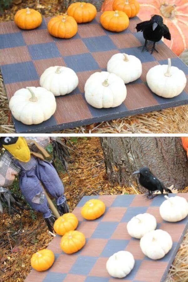 Pumpkin Checkers