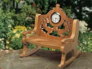Rocking Chair With A Clock