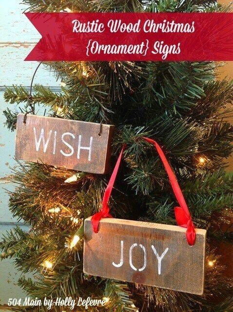 Rustic Wood Ornaments