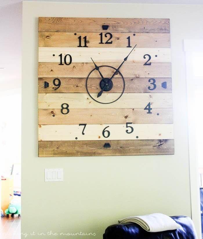 Rustic Wood Plank DIY Clock