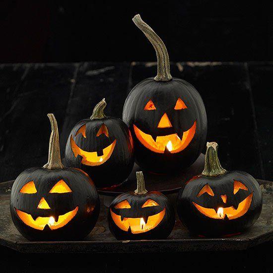 Sinister Black Pumpkins