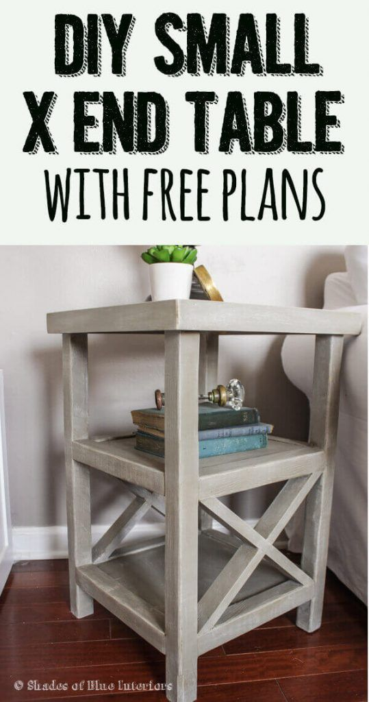 Small X End Table Free Plans