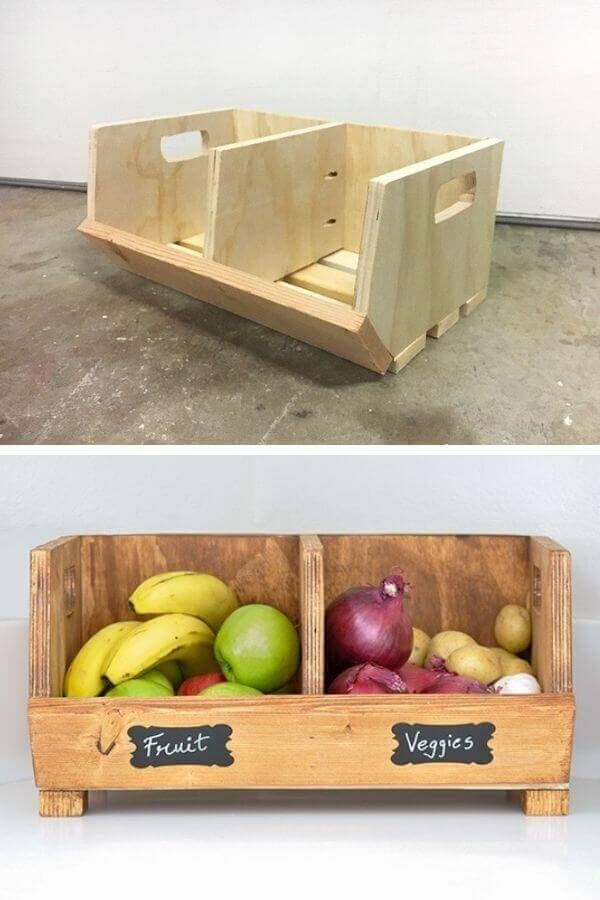 Vegetable Storage Bin With Dividers