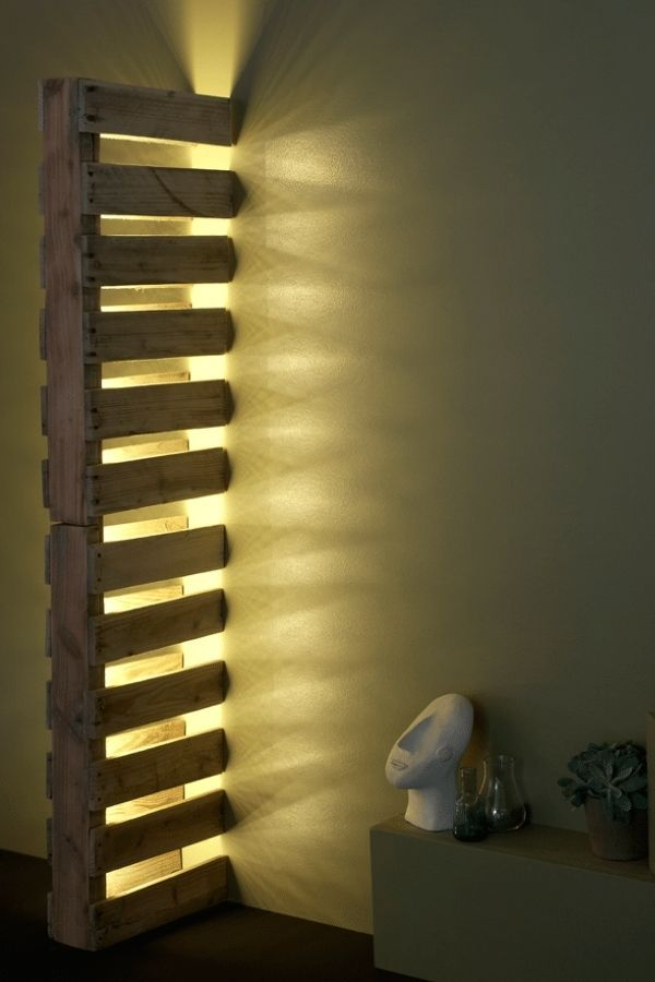 Wall Pallet Lamp