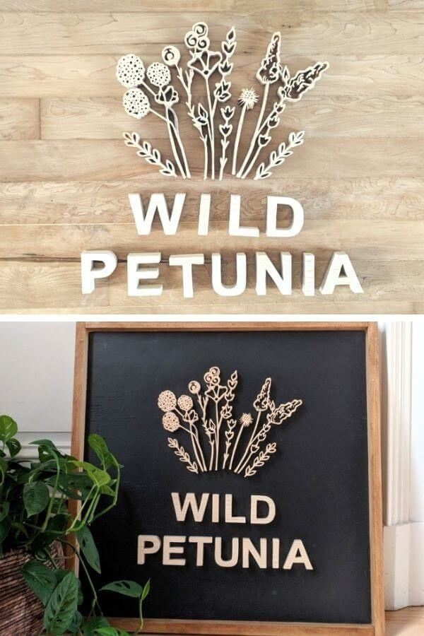 Wooden Scroll Saw Logo Sign