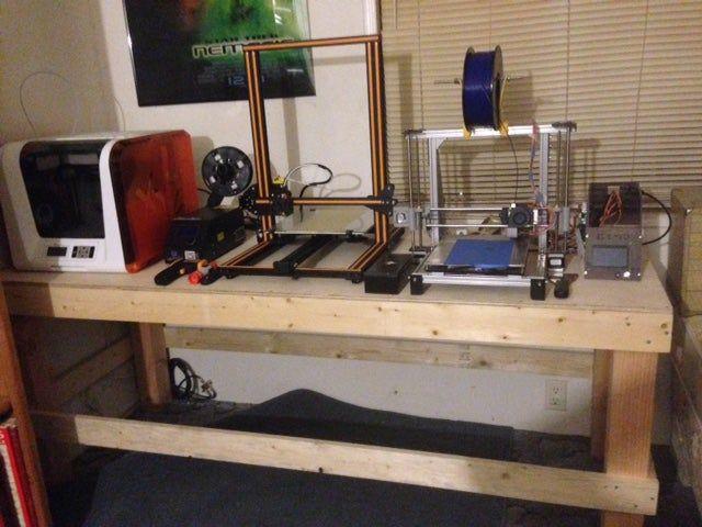 Workbench With Hidden Shelf