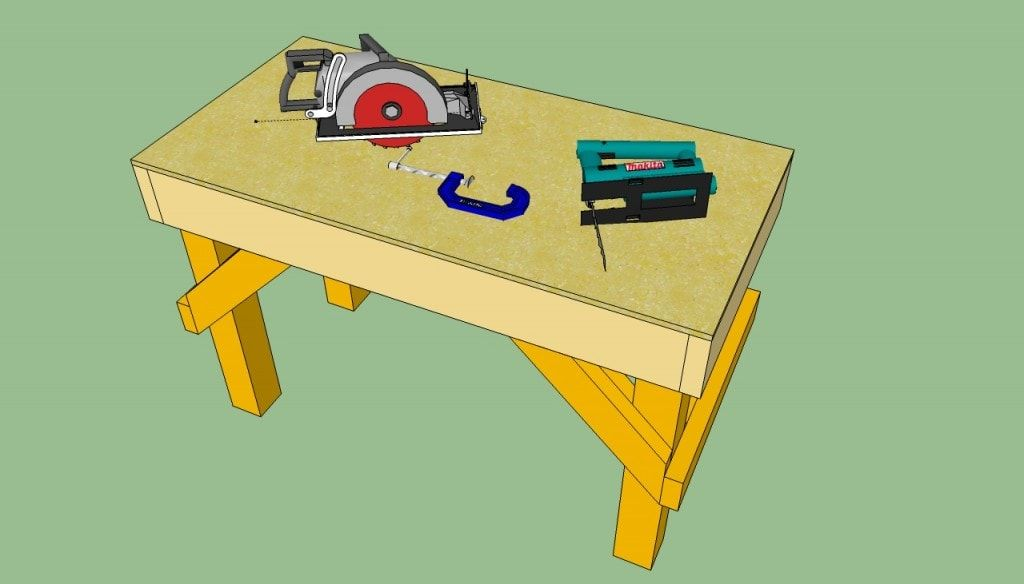 Workbench With Solid Frame