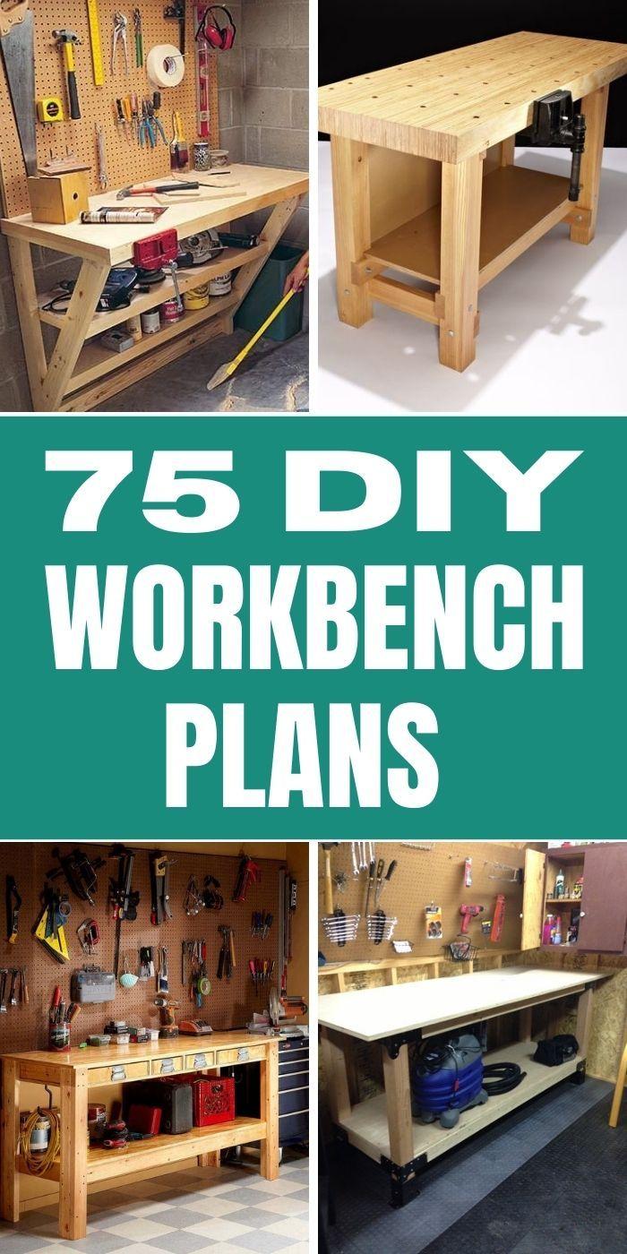 75 Free DIY Workbench Plans