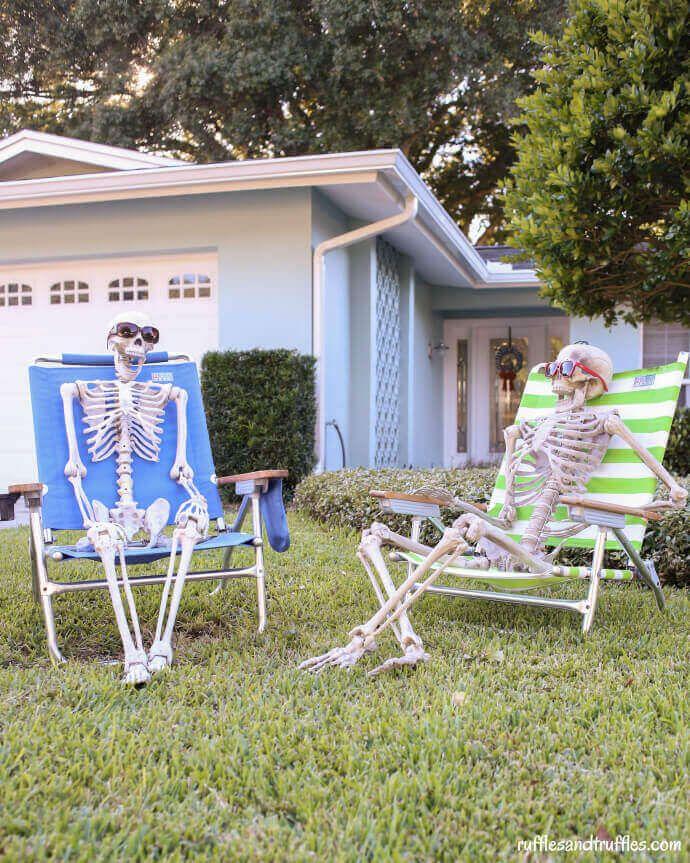 Skeleton Lawn Decorator