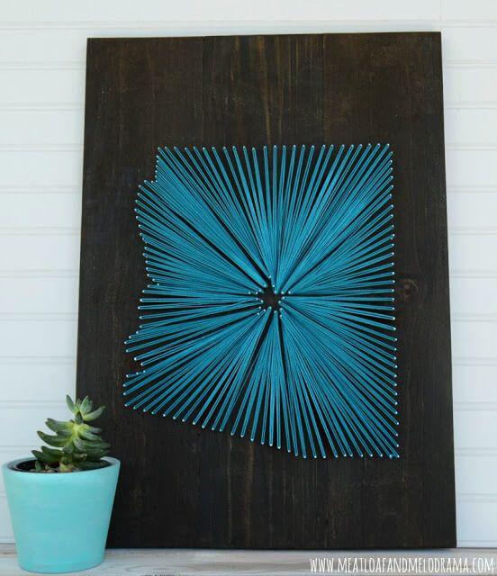 Arizona State String Art