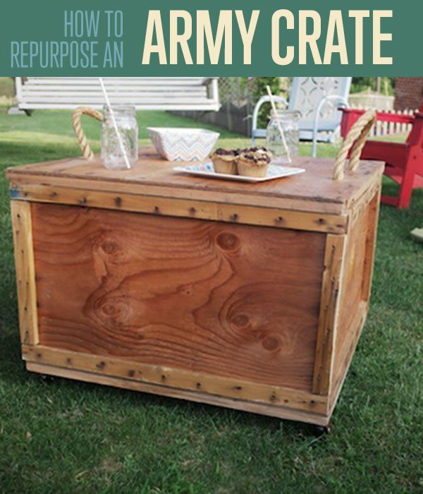 Army Ammo Crate Table